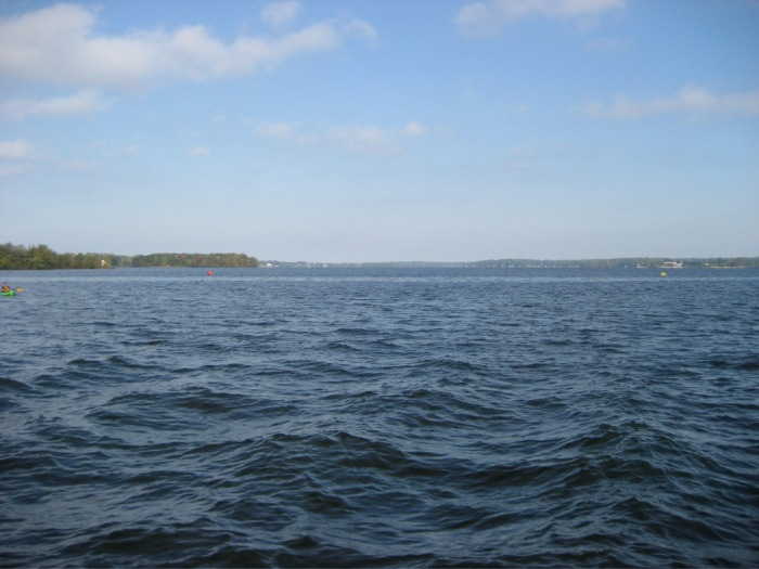 The Mean Lake - do you see the buoy way out there?